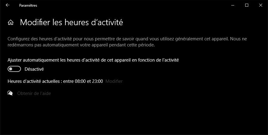 Windows 10 permet de planifier les mises à jour