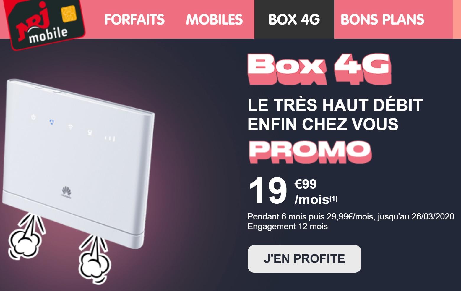 Promo box 4G à 20 euros pour 250 Go : ne ramez plus sur Internet !