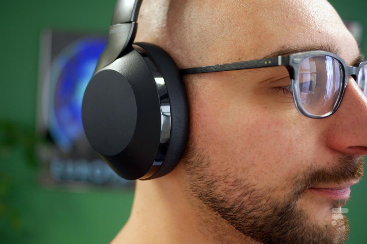 Philips PH805 porté avec des lunettes