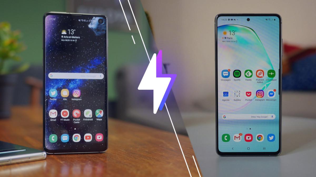 Samsung Galaxy S10 vs Note 10 Lite : lequel est le meilleur smartphone ?