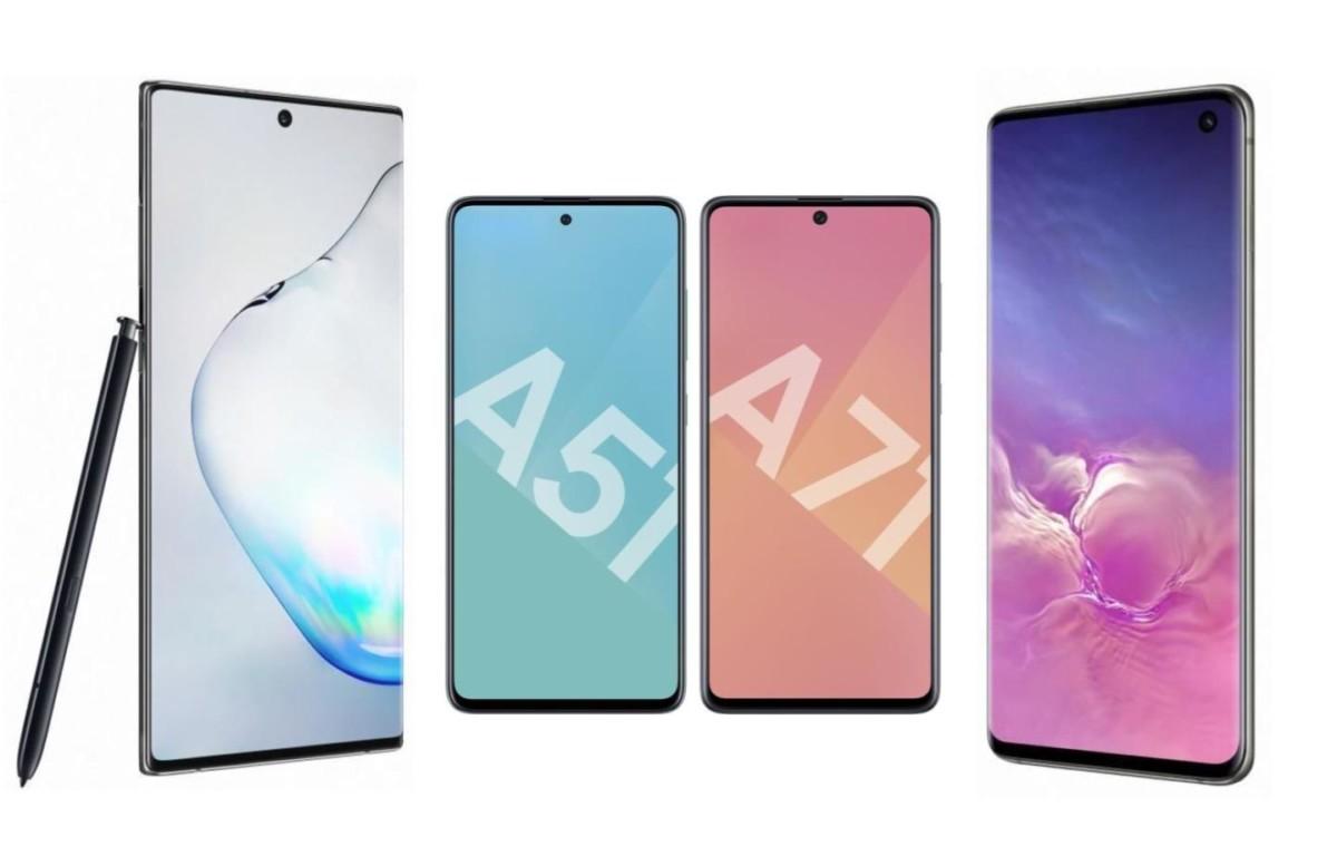 TOP 4 des meilleurs smartphones Samsung en promo : Galaxy A51, A71, S10 et Note 10 Plus