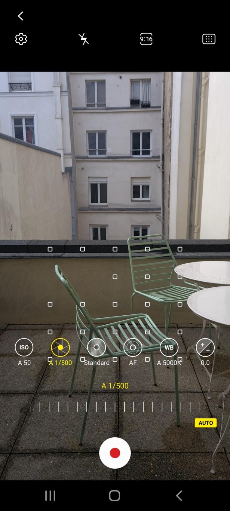 Le mode Pro de la vidéo offre les mêmes réglages que sur la partie photo.
