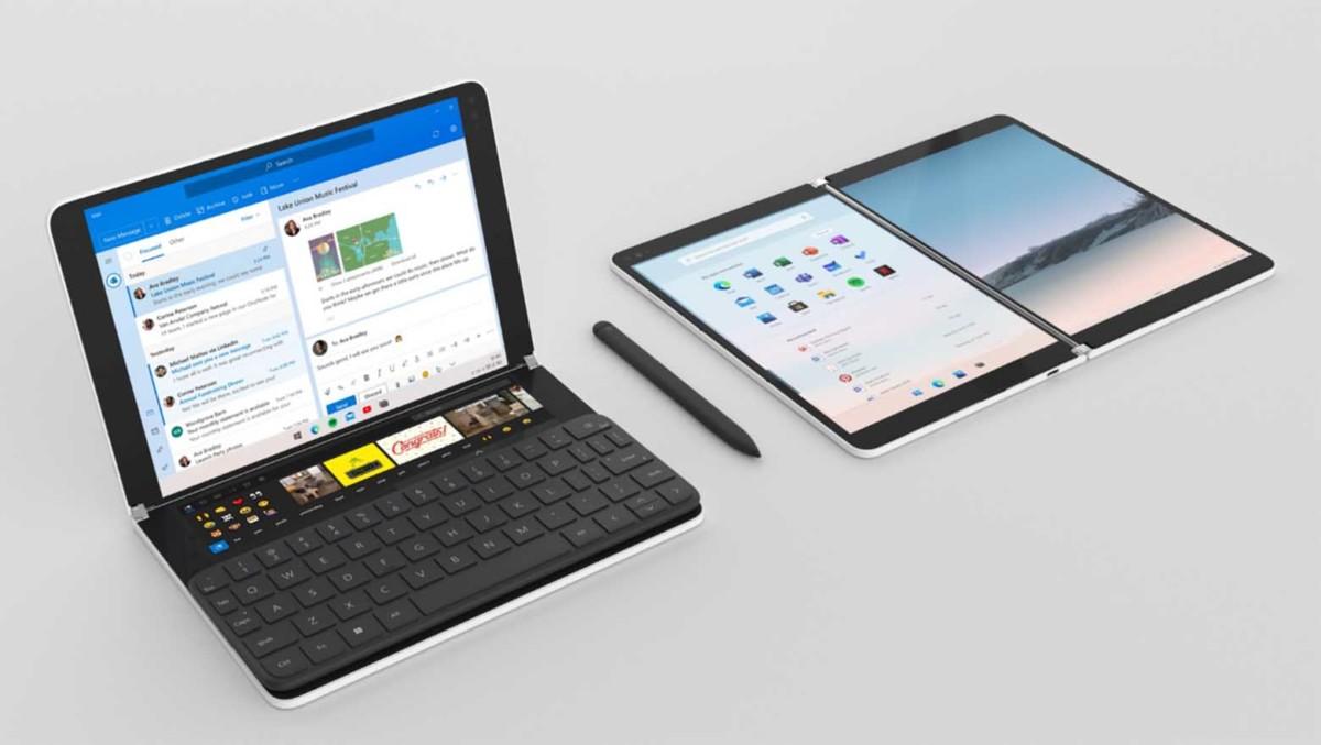 Les Surface Neo (à gauche) et Duo (à droite) pourraient ne pas être lancées simultanément cette année // Crédit : Microsoft
