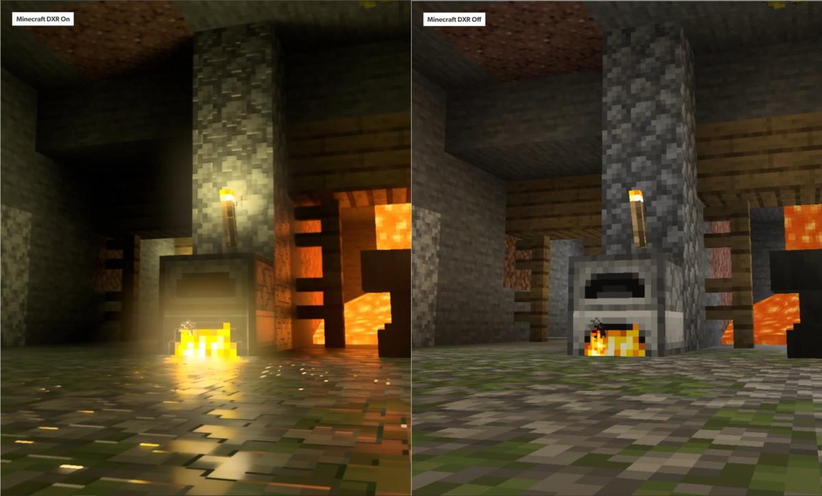 Une version de Minecraft avec ou sans raytracing
