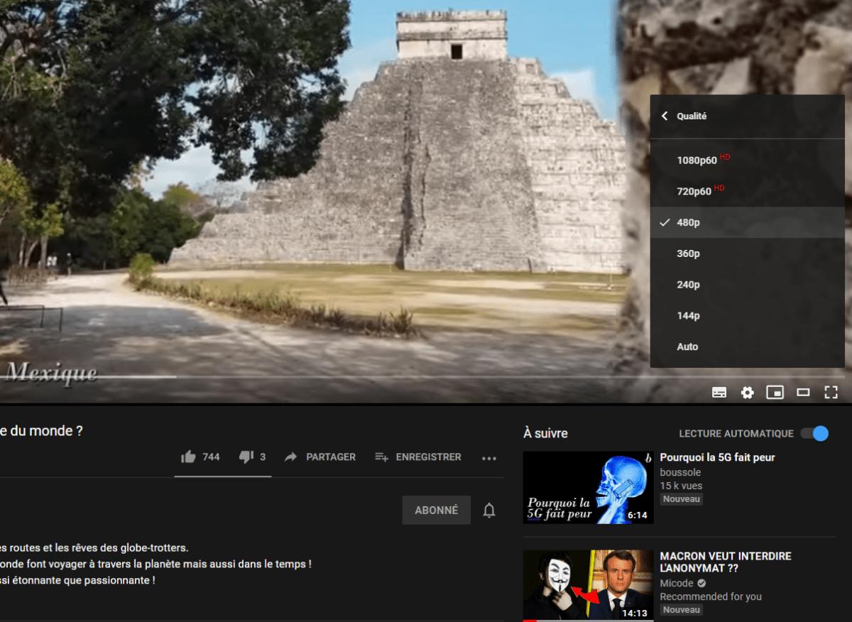 Les définitions proposées sur YouTube