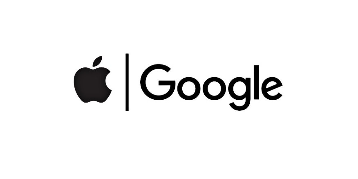 Logos Apple et Google