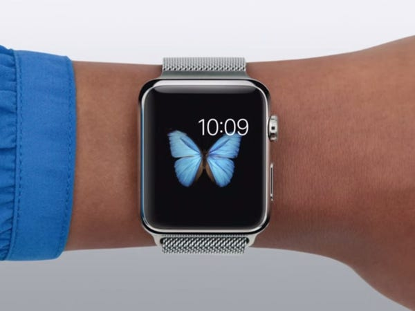 Fond d'écran papillon sur Apple Watch