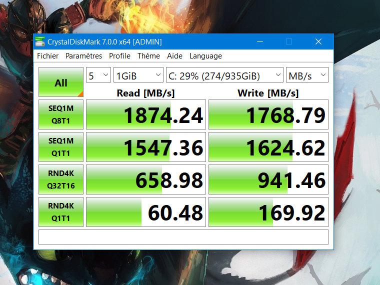Le SSD Intel n'est pas en reste