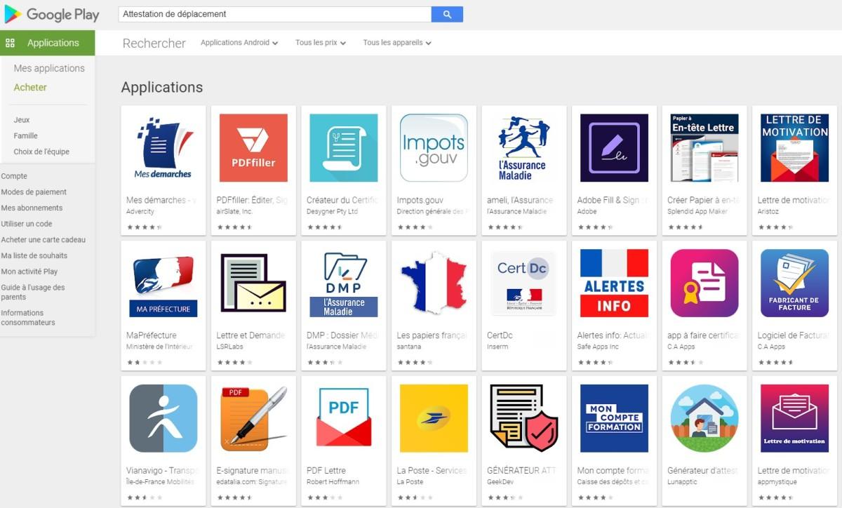 Les apps d'attestation dérogatoire sont désormais supprimées par Google