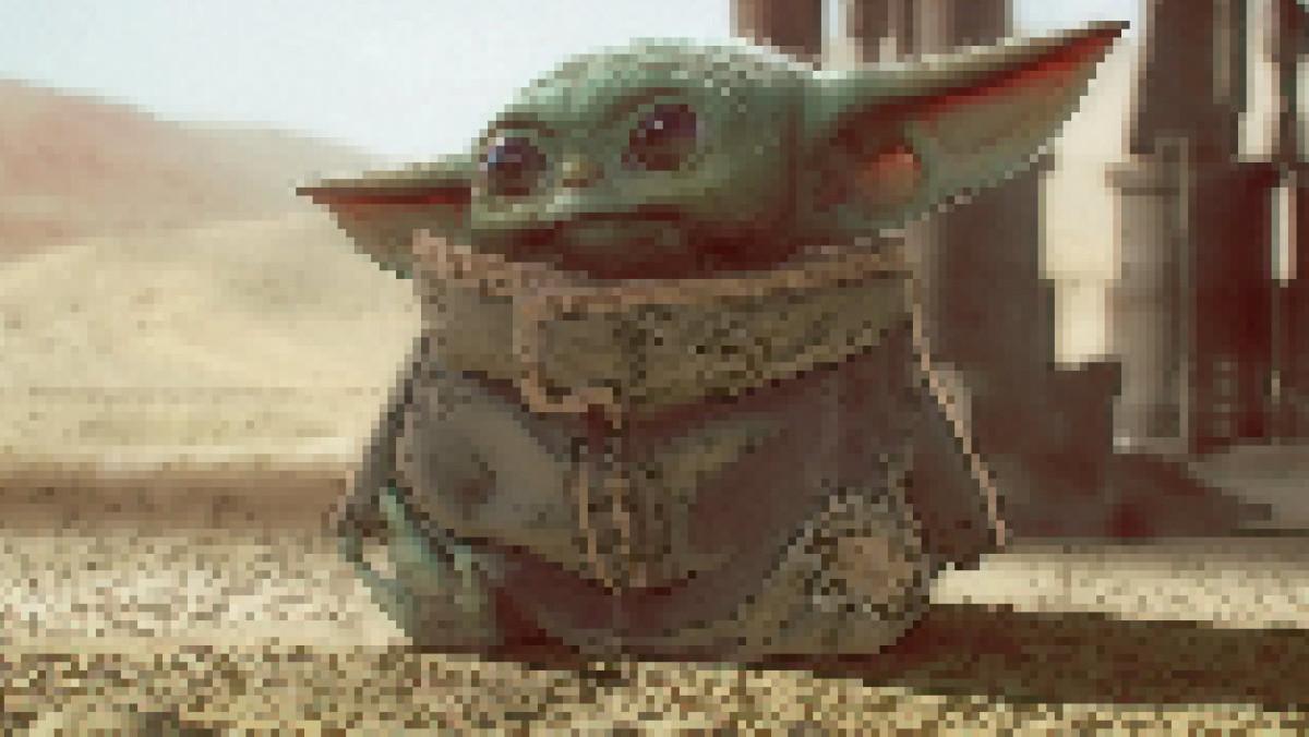 Baby Yoda (The Mandalorian) pixellisé