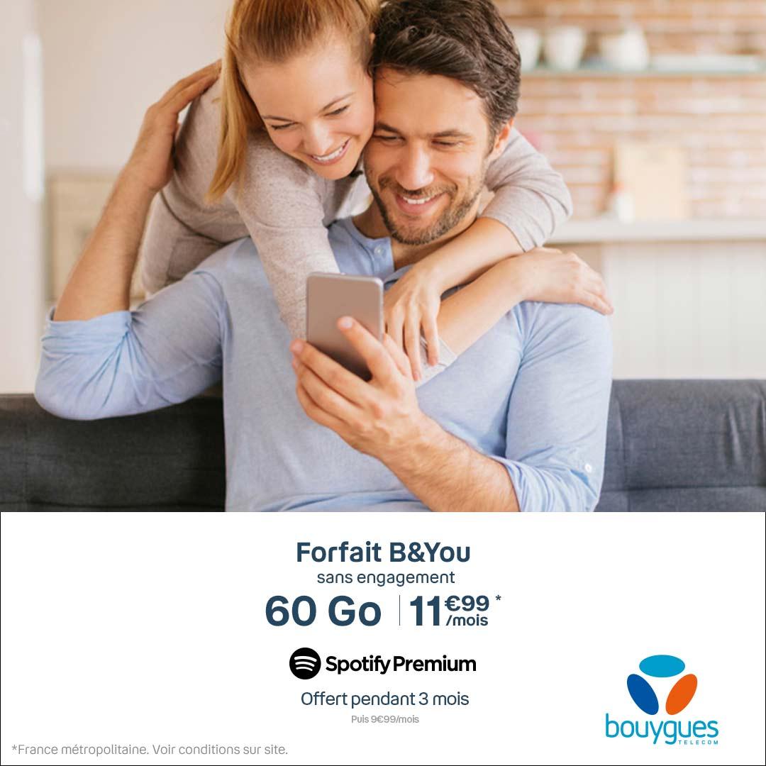Ce forfait mobile 60 Go à 11,99 euros est la nouvelle meilleure offre du moment