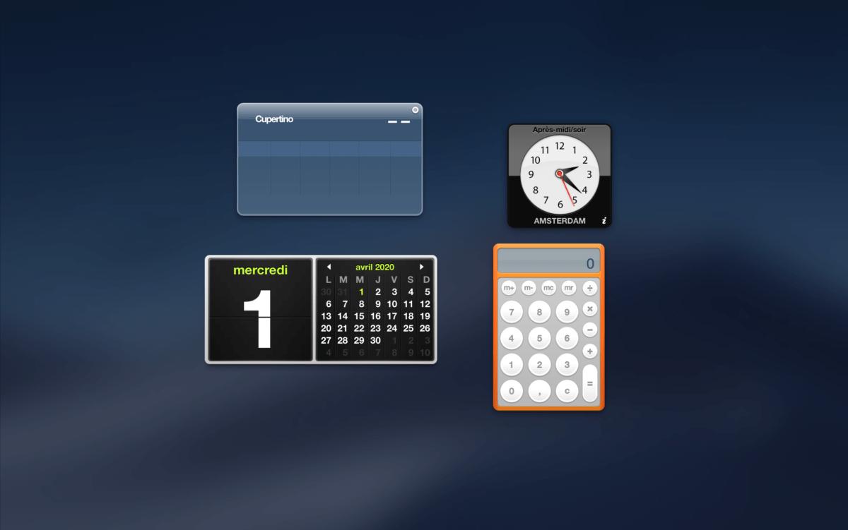 Oui, il s'agit bien du widget météo dans macOS Majova