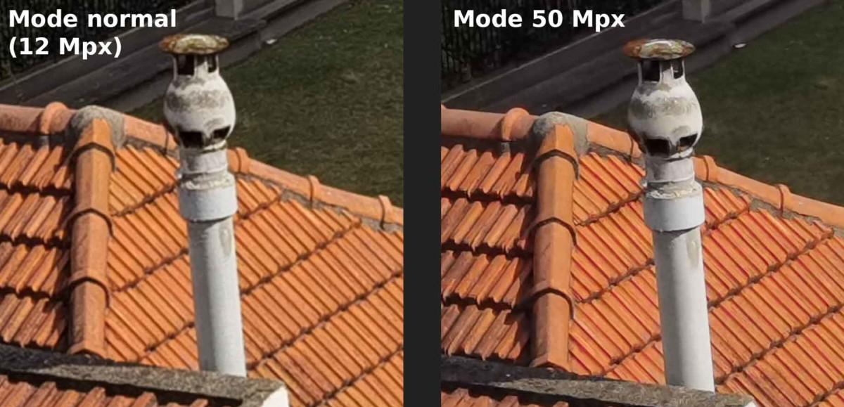 Mode classique contre mode 50 Mpx sur le Huawei P40 Pro