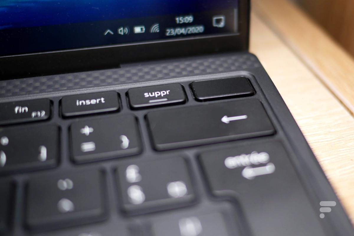 Capteur d'empreintes dans le clavier du Dell XPS 13 2020