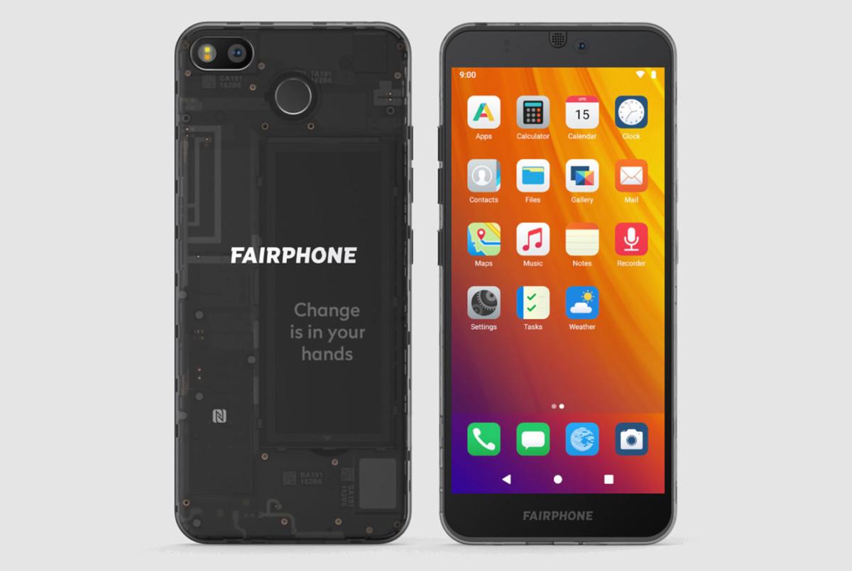 Fairphone 3 équipé d'/e/