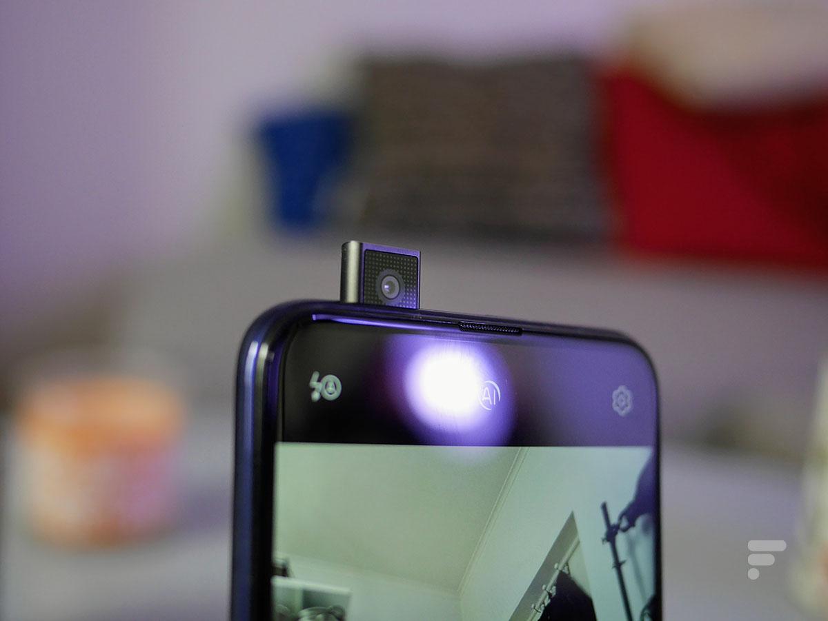La caméra pop-up du Honor 9X Pro