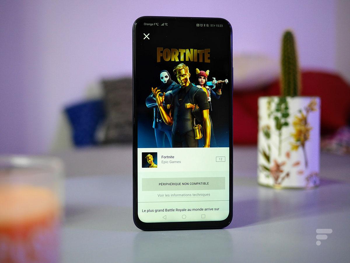 Fortnite refuse de se lancer sur le Honor 9X Pro