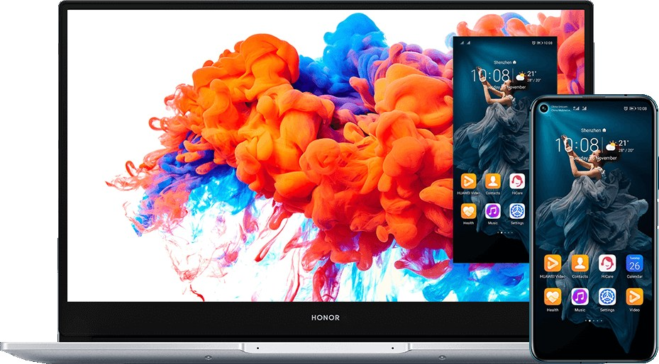 Honor Link2.0 permet de contrôler son smartphone directement depuis le MagicBook.