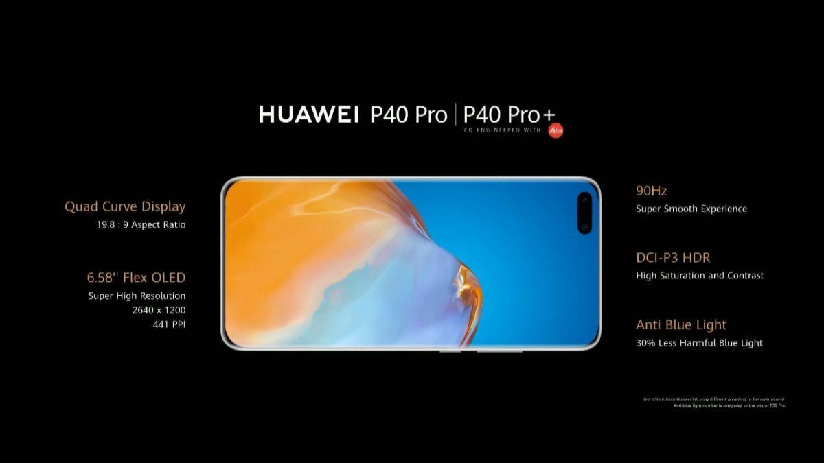Les promesses de l'écran du Huawei P40 Pro