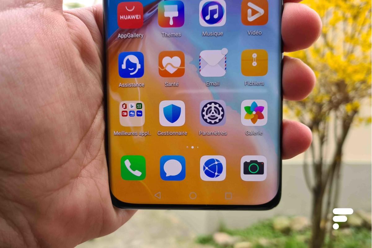Huawei P40 Pro écran bas