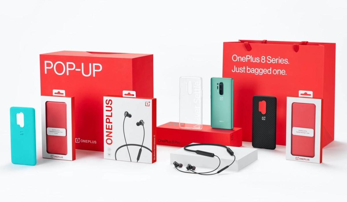 Le contenu de la pop-up box des OnePlus 8