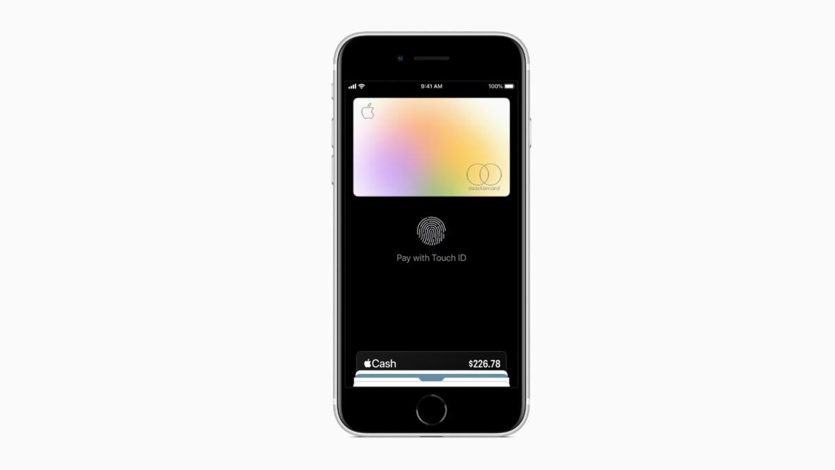 L'iPhone SE est compatible avec Apple Pay, le service d'Apple pour régler ses achats en paiement sans contact, sans limites de paiement.