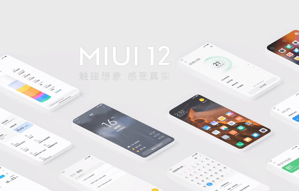 L'interface MIUI 12 de Xiaomi