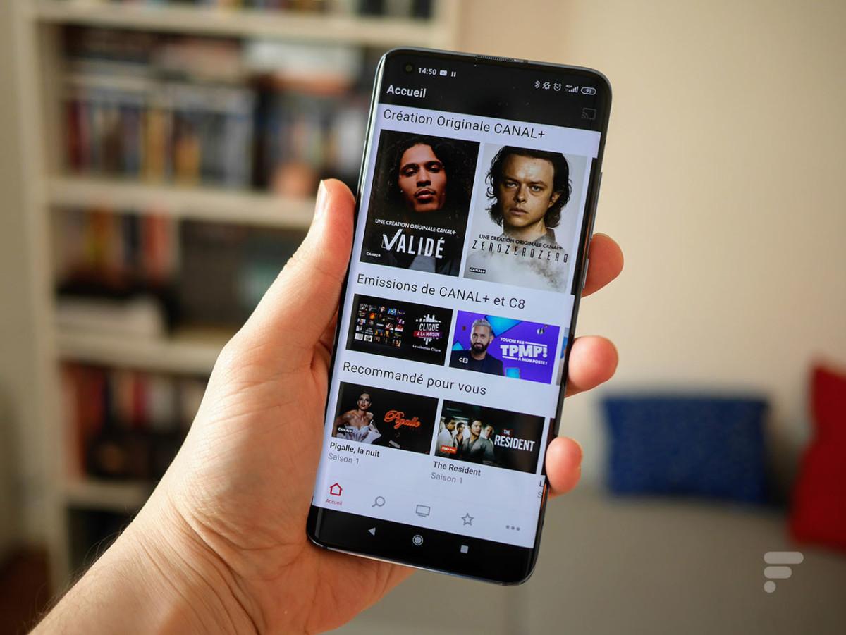 L'application myCanal de Canal+ sur le Xiaomi Mi 10 Pro