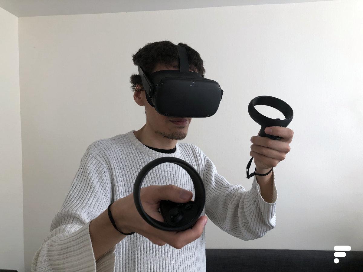 Oculus Quest en utilisation