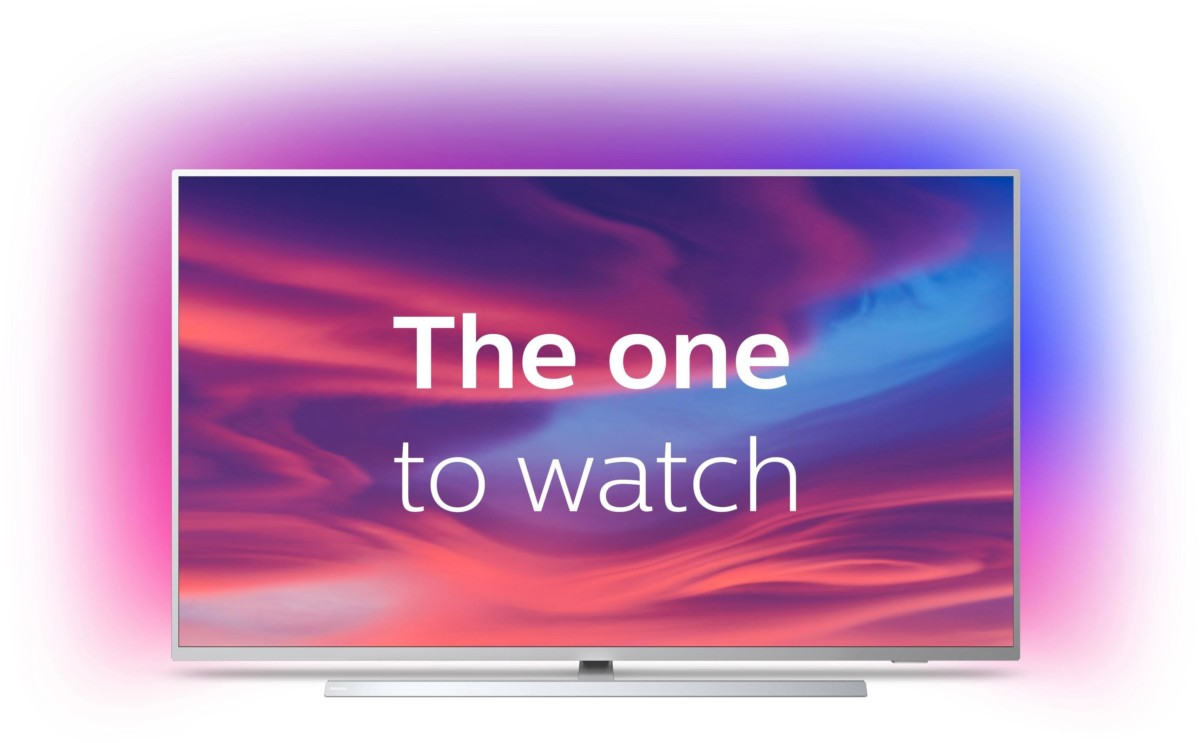 """Philips The One 70PUS8545 de face, avec le slogan """"The one to watch"""""""