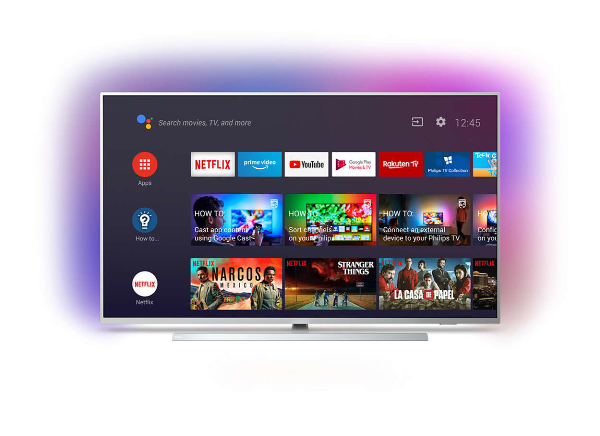 Voici à quoi ressemble Android TV 9 sur un téléviseur Philips The One.