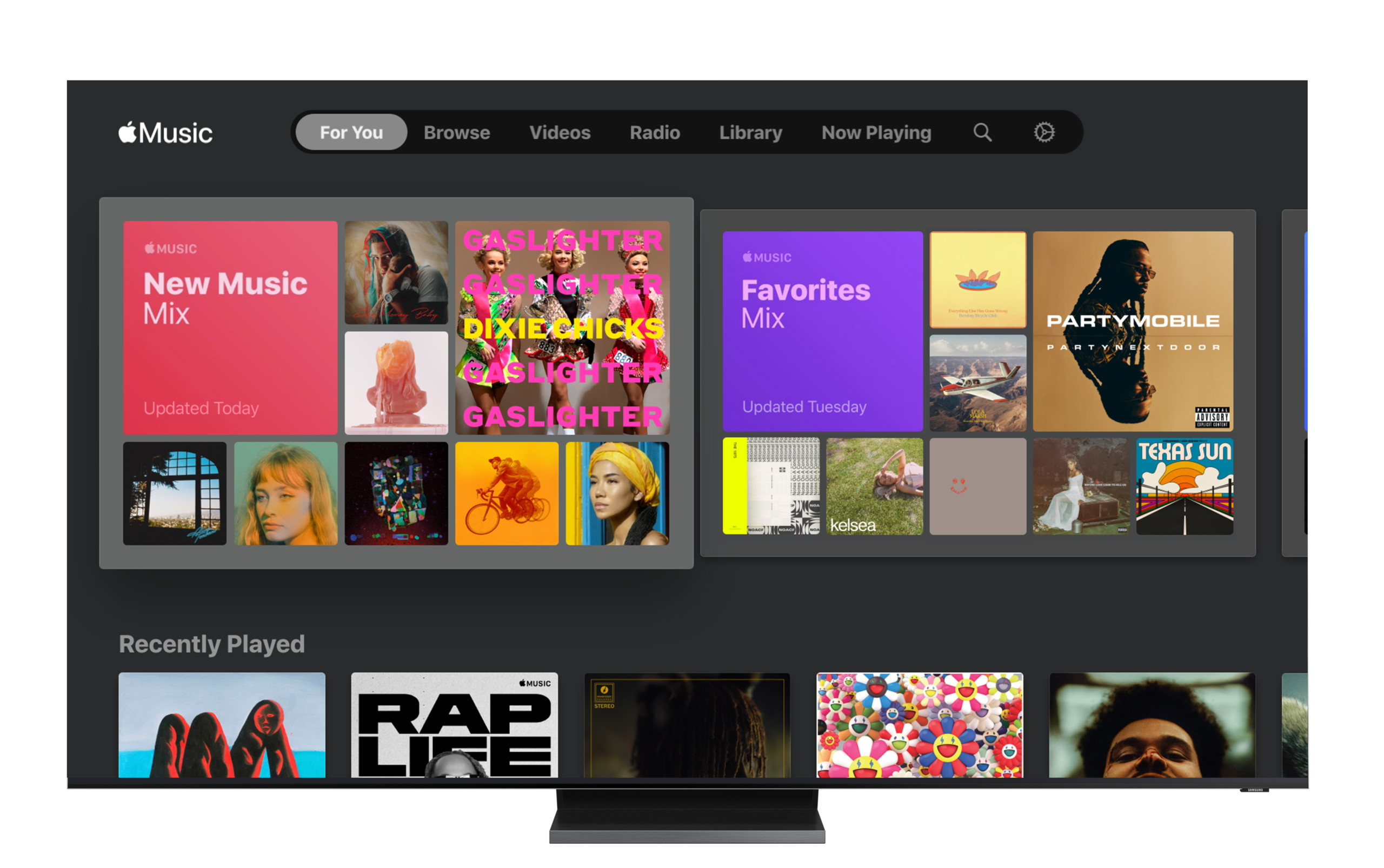 L'application débarque sur les téléviseurs connectés Samsung — Apple Music