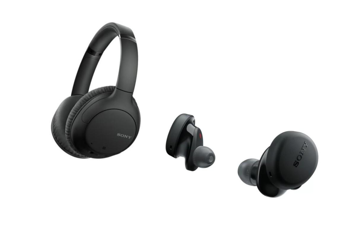 Le casque Sony WH-CH710N et les écouteurs Sony WF-XB700