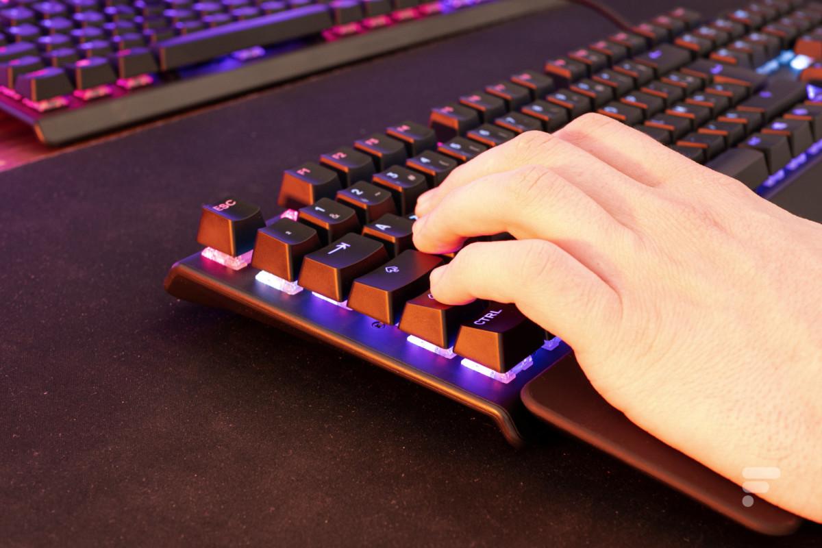 Des touches convaincantes sur le SteelSeries Apex 5