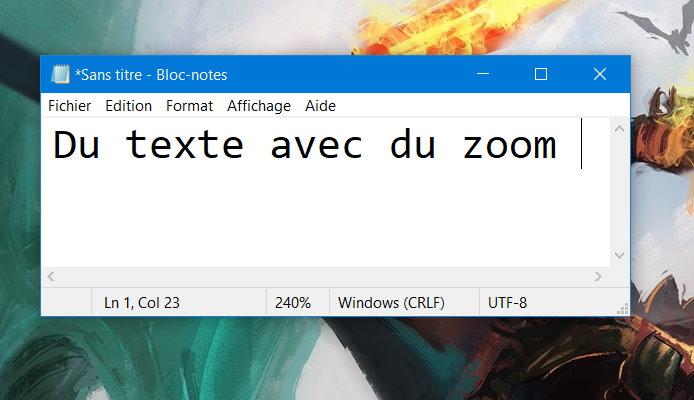 L'application Bloc-notes