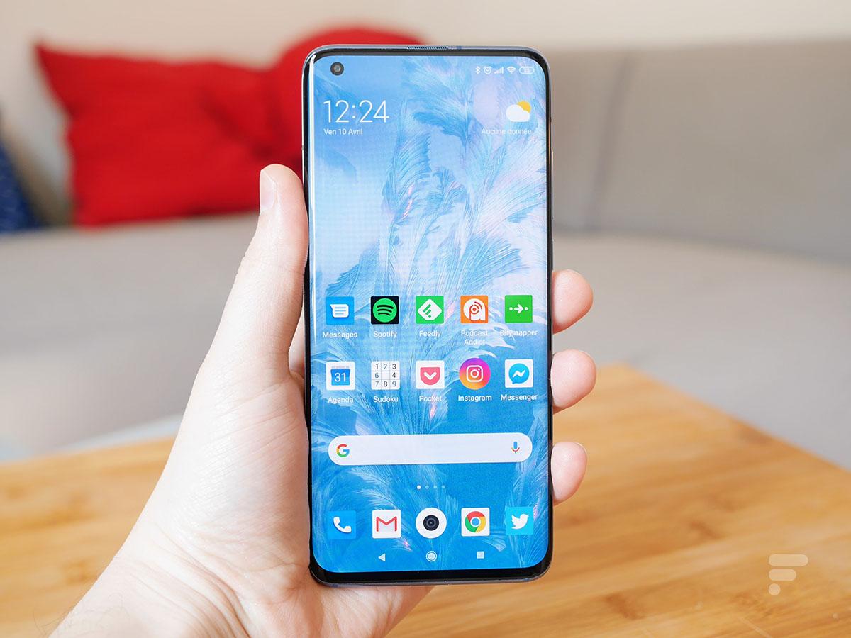 L'écran du Xiaomi Mi 10