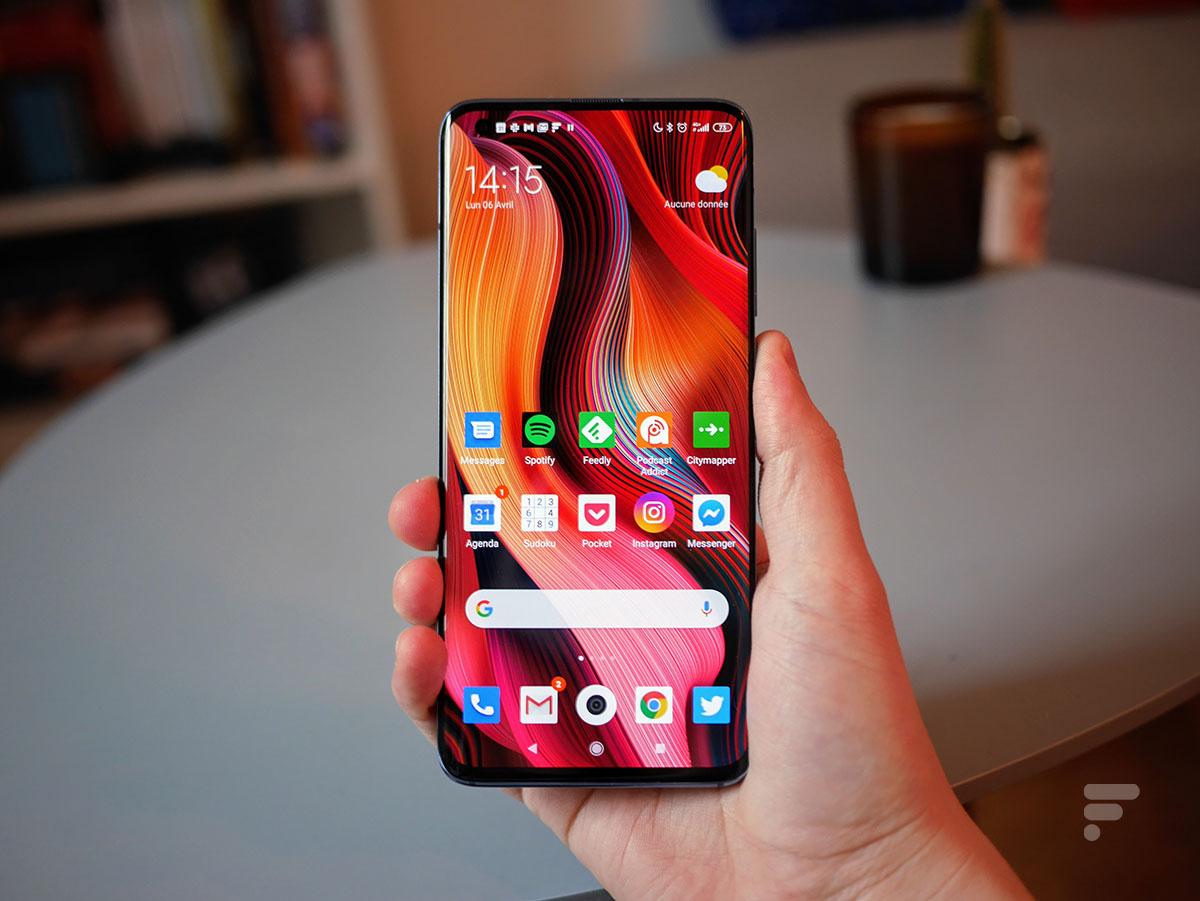 La face avant du Xiaomi Mi 10 Pro