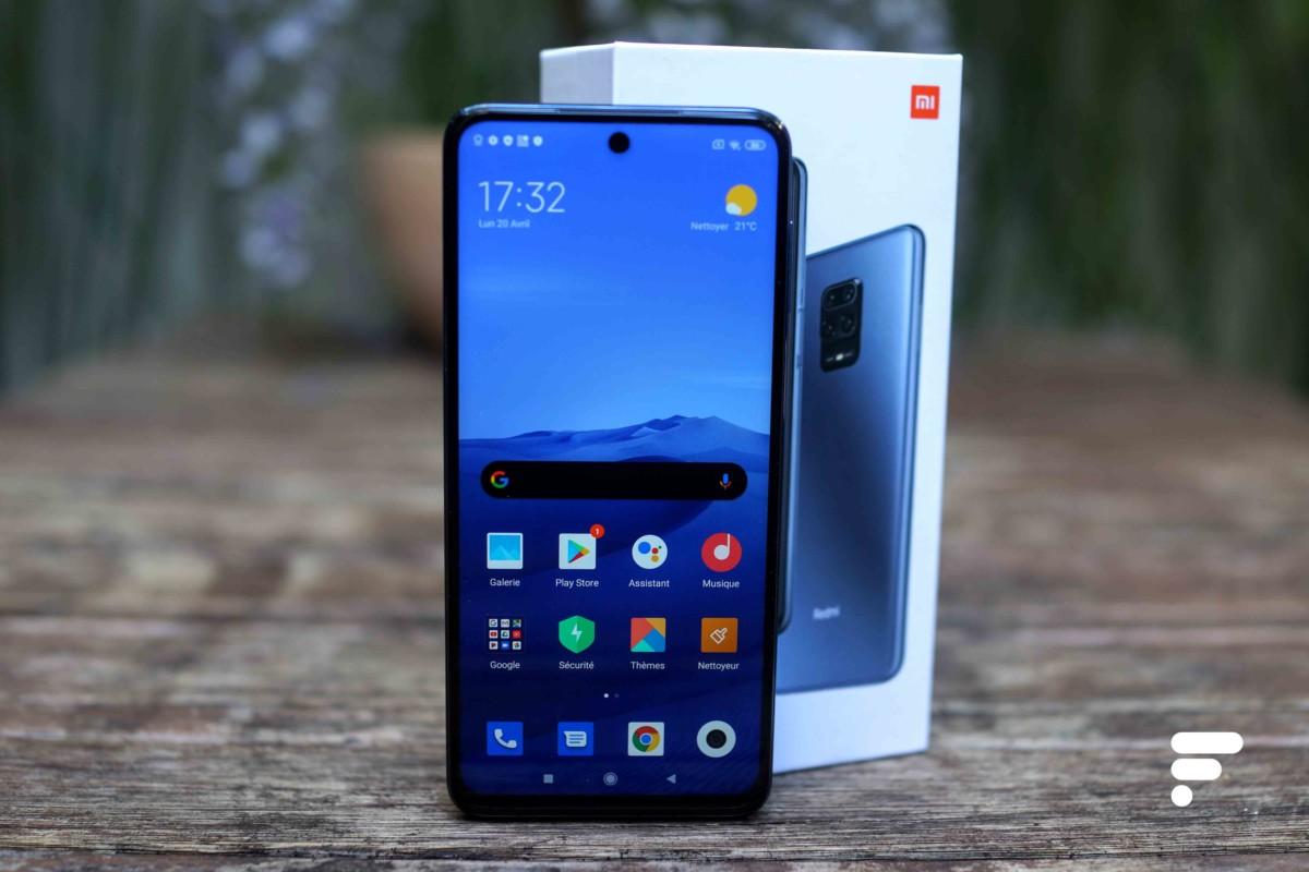 Le Xiaomi Redmi Note 9S et sa boîte
