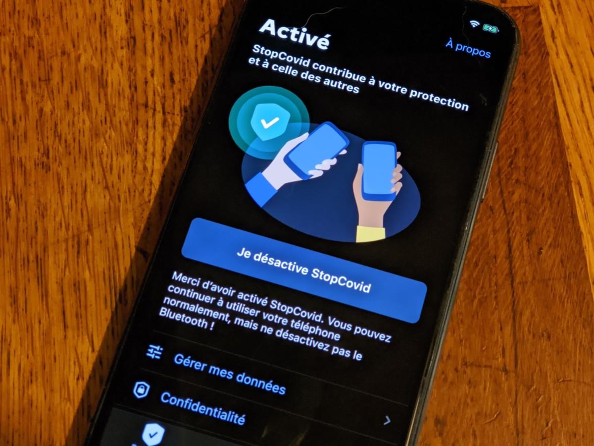 StopCovid sur un iPhone 11 Pro