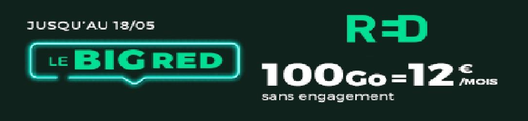 RED by SFR prolonge son forfait mobile 100 Go à 12 €/mois jusqu'à 19h