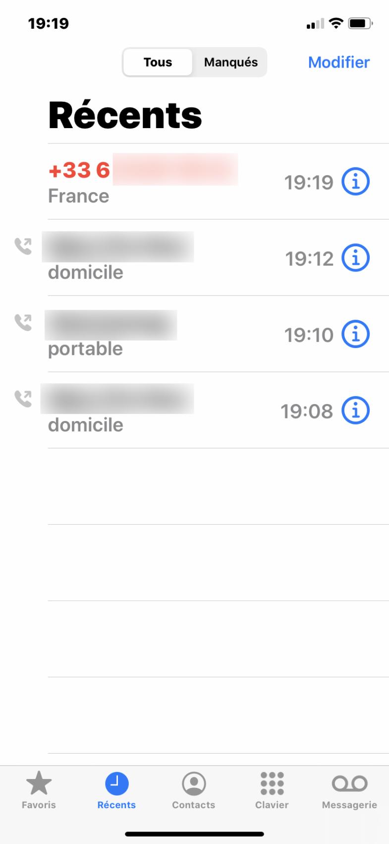 Bloquer un numéro sur iPhone