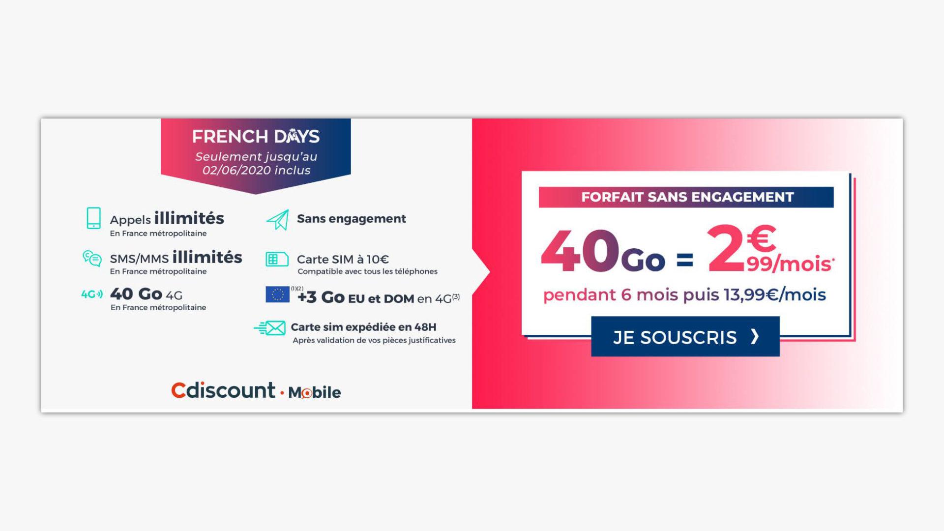 forfait mobile 2 99 eur free