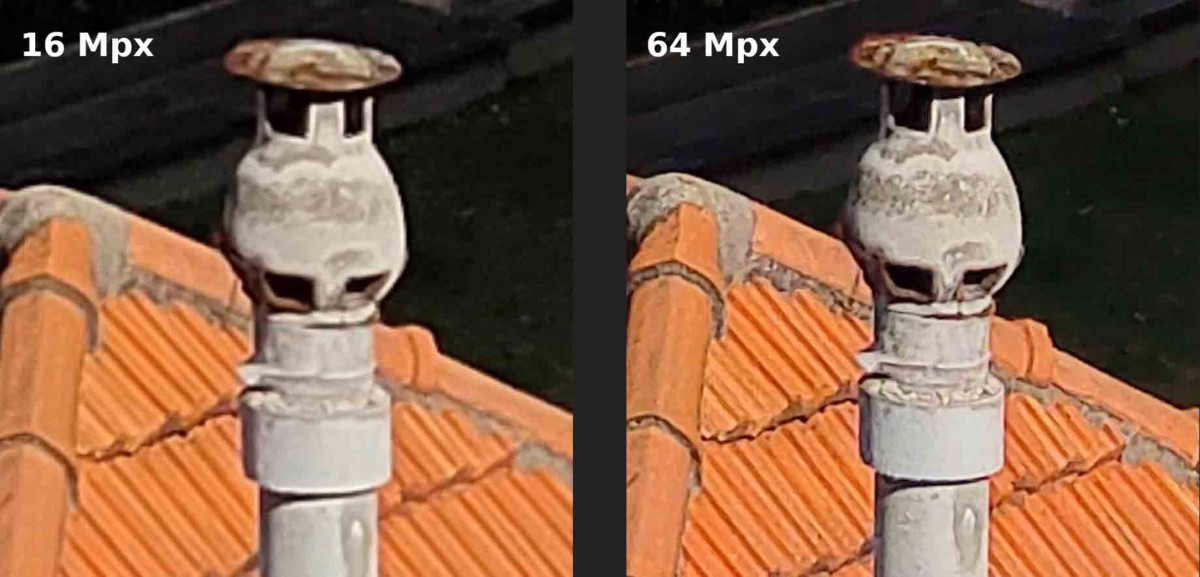 Modes 16 mégapixels vs 64 mégapixels