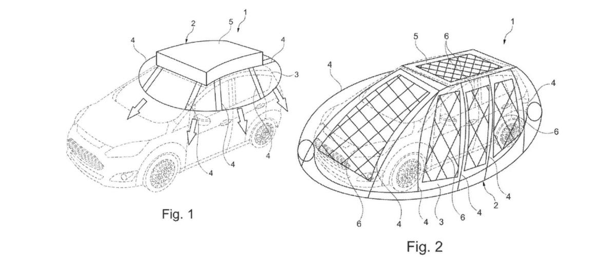 Le cocon gonflable solaire imaginé par Ford