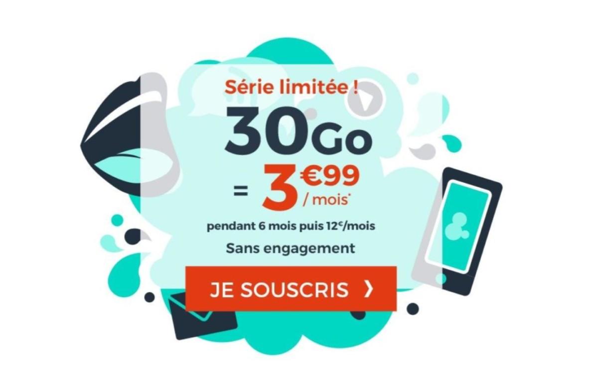 Ce forfait mobile 30 Go à 3,99 €/mois est le bon moyen de faire des économies