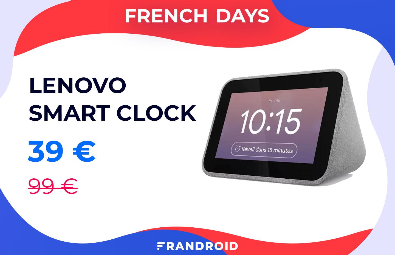 À moins de 40 euros, le Lenovo Smart Clock n'a jamais été aussi peu cher
