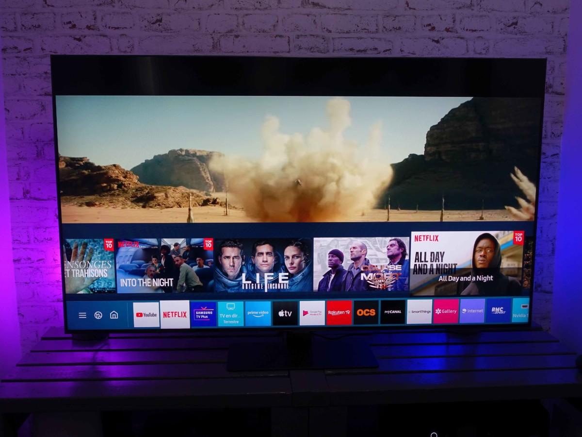 Le téléviseur QLED Q80T de Samsung