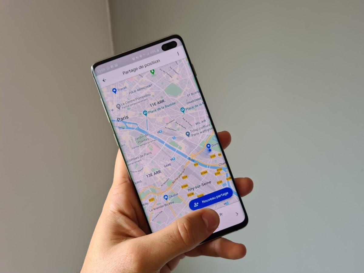 Google Maps partage de position