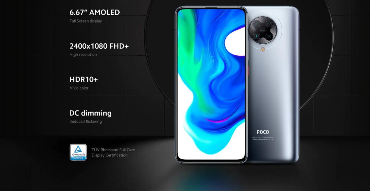 L'écran du Poco F2 Pro
