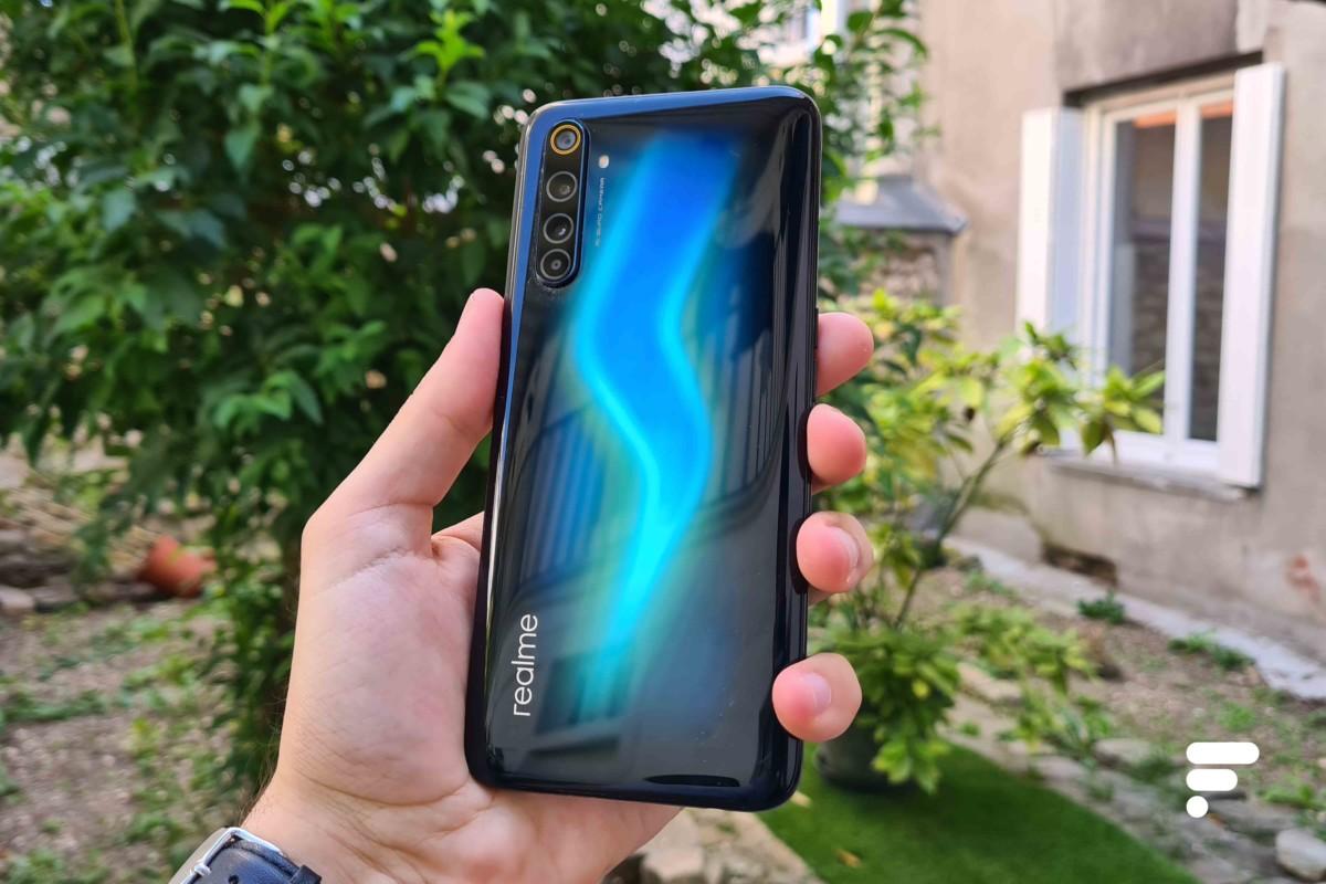 Reflets du Realme 6 Pro